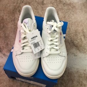 Adidas Continental 80 white sneakers size 9